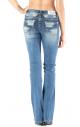 Grace in LA Women's Embellished Boot Cut Jeans
